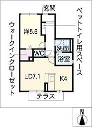 アーバンコート宮崎通EAST[1階]の間取り