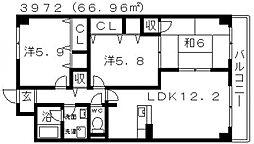 ステラルーチェ[306号室号室]の間取り