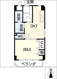 エクセル上小田井[3階]の間取り