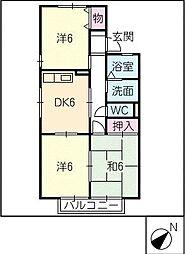 セジュールPart1[1階]の間取り