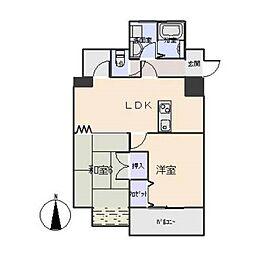 コメルスV[8階]の間取り