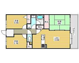 浅香山グリーンマンション[5階]の間取り