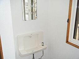 手洗い器完備