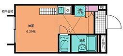 バイオレスヒルズ横浜[205号室]の間取り