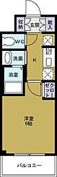 エステムコート難波WESTSIDE5アジュール[5階]の間取り