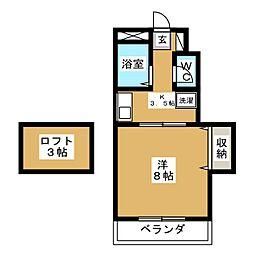 グレースガーデン青木[3階]の間取り