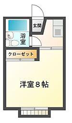 千原ツインB[1階]の間取り
