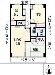 サンシャイン恵[3階]の間取り