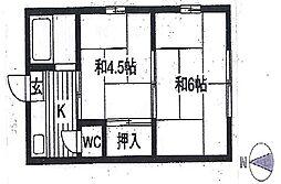 松の木荘[202号室号室]の間取り