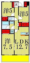 RIK(リィク)西新井[3階]の間取り