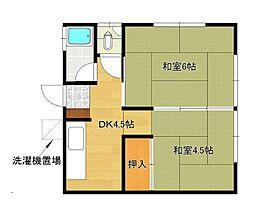 牛島アパート[101号室]の間取り
