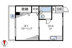 中野ファミール[302号室]の間取り