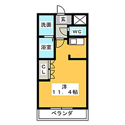 コーポ25[1階]の間取り