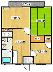 ガーデンHana1[201号室]の間取り