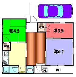 藤田アパート[1階号室]の間取り