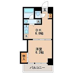 ファーストパレス仙台[6階]の間取り