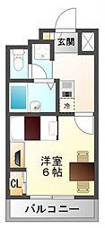 レオパレスFlat江坂[14階]の間取り