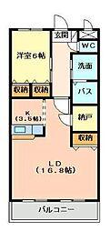 ベルフォーレI番館[1階]の間取り
