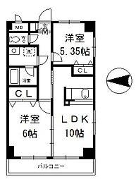 ステラビュー新横浜[605号室]の間取り