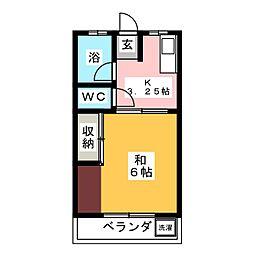 柳ハイツ[2階]の間取り