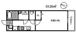 リブリ・フォーディアリィスト灘 3階1Kの間取り