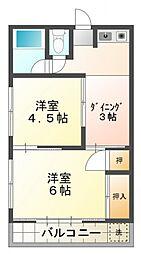 みよしハイツ[2階]の間取り
