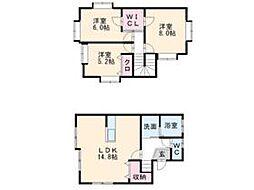 [一戸建] 福岡県太宰府市吉松1丁目 の賃貸【/】の間取り