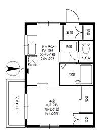 駒沢514マンション[3階]の間取り