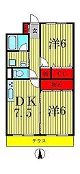 弥藤壱番館[2階]の間取り