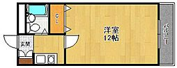 ピュア里中[4階]の間取り