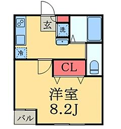 House Carmine[E号室号室]の間取り