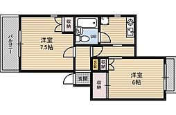レジデンスノーブル[5階]の間取り