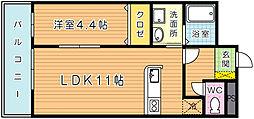 ZEN'S清水 (ゼンズキヨミズ)[4階]の間取り