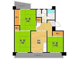UR中山五月台住宅[12-401号室]の間取り
