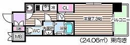 レジュールアッシュ福島キューズ[10階]の間取り
