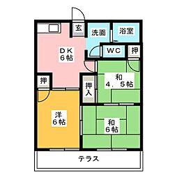 ロイヤルグリーンIII[1階]の間取り