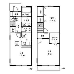 [テラスハウス] 東京都江戸川区北葛西4丁目 の賃貸【/】の間取り