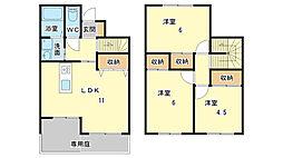 [テラスハウス] 兵庫県姫路市広畑区則直 の賃貸【/】の間取り