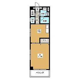 パールコートIII[6階]の間取り