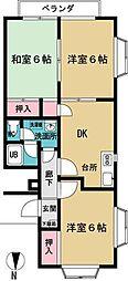 ササノコーポ[3階]の間取り