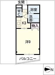 ジューンコーポ[2階]の間取り