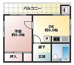 ロイヤルハイツ兵庫[5階]の間取り