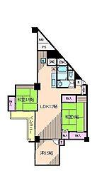 東京都北区東十条3丁目の賃貸マンションの間取り