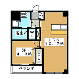 カスタリア壬生[2階]の間取り