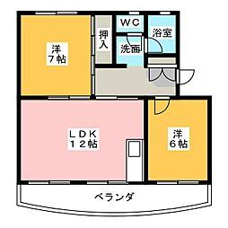 ラサタ[2階]の間取り