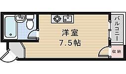 第二木田ハイツ[5階]の間取り