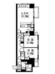 ムルーエ築地[4階]の間取り