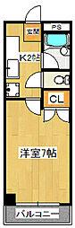 GLANZ A(グランツアー)[103号室]の間取り
