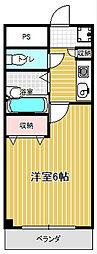 コンフォートマンション桜木町[828号室]の間取り