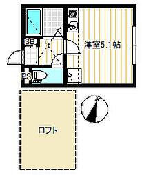 スカイガーデン横濱[1階]の間取り
